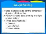 ink jet printing