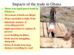 impacts of the trade in ghana