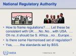 national regulatory authority