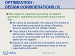 optimization design considerations v