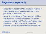 regulatory aspects i