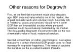 other reasons for degrowth