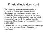 physical indicators cont