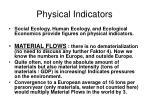 physical indicators