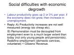 social difficulties with economic degrowth