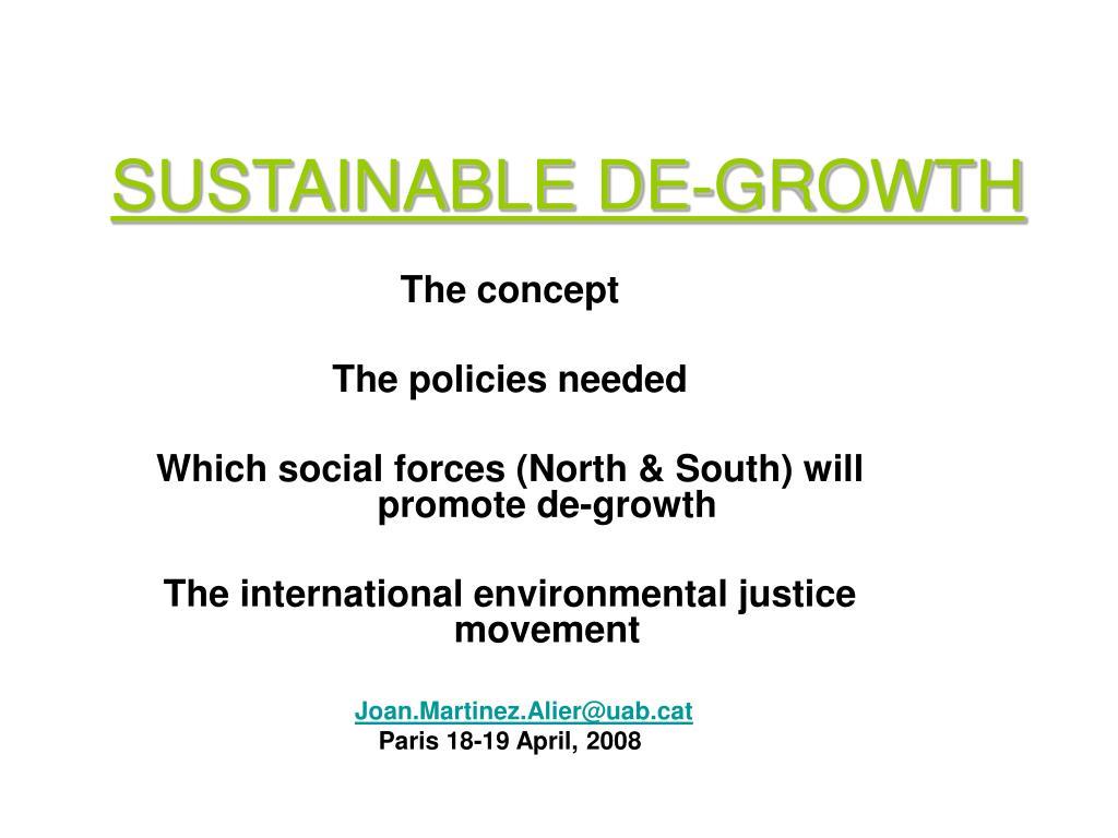 sustainable de growth l.