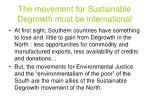 the movement for sustainable degrowth must be international