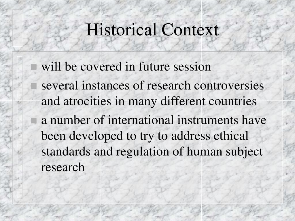 historal context research
