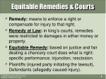 equitable remedies courts