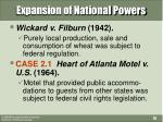 expansion of national powers