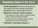 regulatory powers of the states