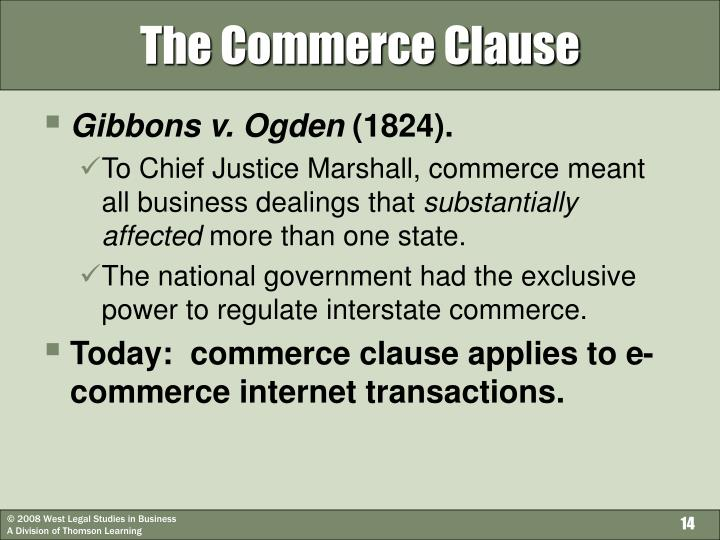 commerce clause Confused about commerce clause, due process clause or quill corp learn sales tax basics in sales tax 101.
