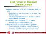 brief primer on regional climate change