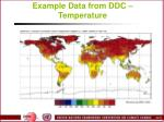 example data from ddc temperature