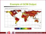example of gcm output
