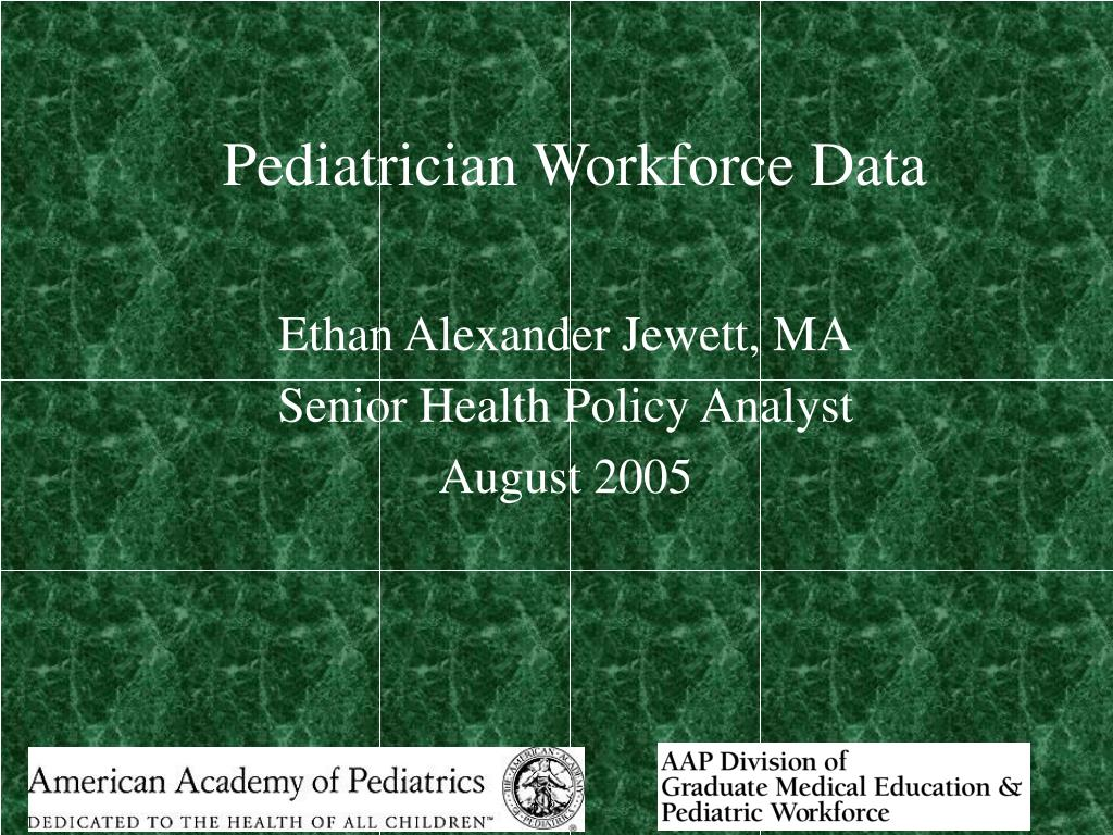 pediatrician workforce data l.