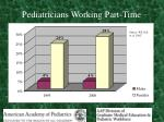 pediatricians working part time
