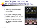 even as grids take hold the it landscape is changing rapidly