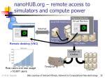 nanohub org remote access to simulators and compute power