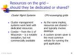 resources on the grid should they be dedicated or shared