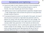 aeroplanes and lightning