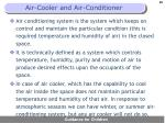 air cooler and air conditioner