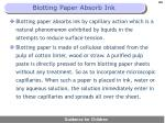 blotting paper absorb ink