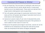 coconut oil freeze in winter