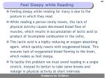 feel sleepy while reading