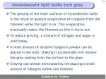 incandescent light bulbs turn grey