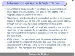 information on audio video tapes