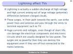lightning affect tvs