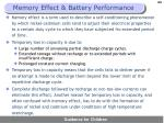 memory effect battery performance