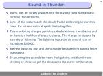 sound in thunder