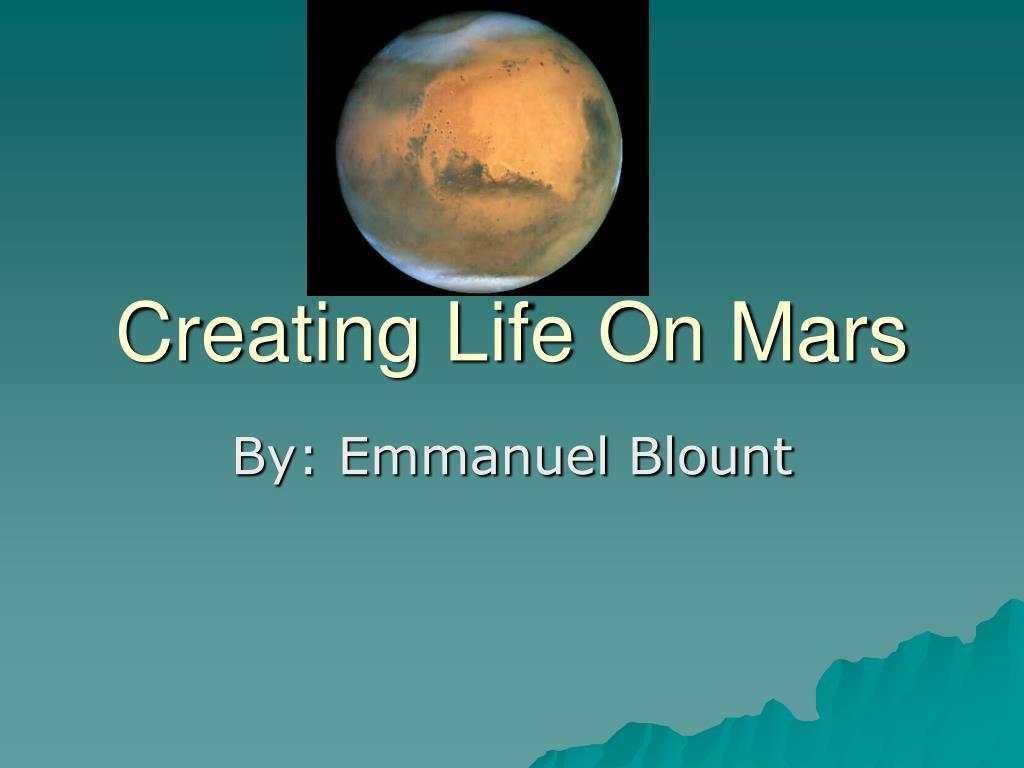 creating life on mars l.