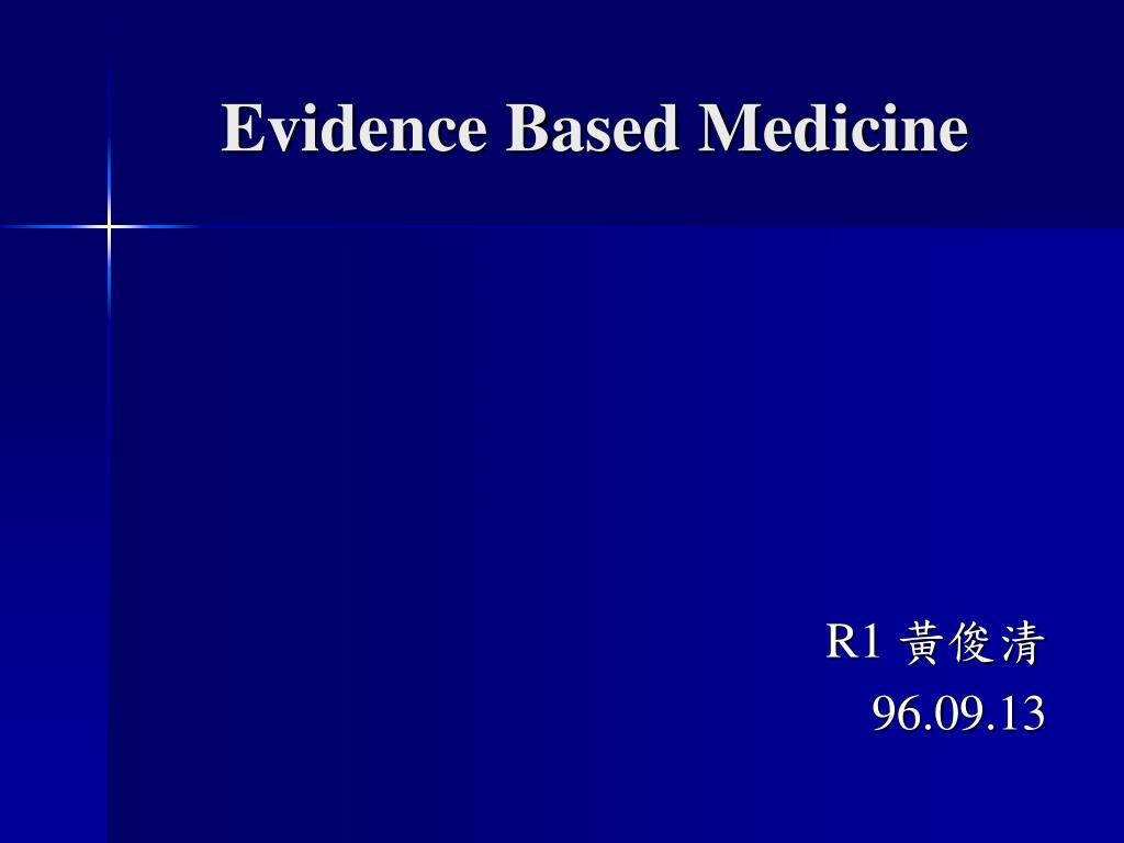 evidence based medicine l.