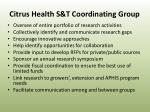 citrus health s t coordinating group