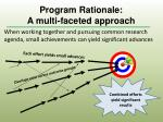 program rationale a multi faceted approach