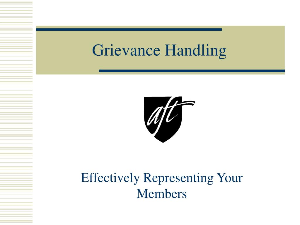 grievance handling l.