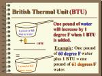 british thermal unit btu