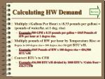 calculating hw demand