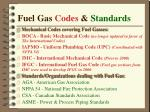 fuel gas codes standards