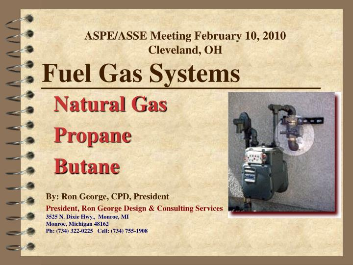 fuel gas systems n.