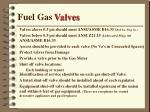 fuel gas valves