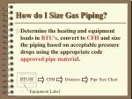 how do i size gas piping