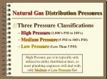 natural gas distribution pressures