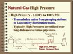natural gas high pressure