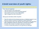 a brief overview of youth rights