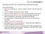 design tools for teaching professionals