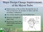 major design change improvements of the mayon turbo